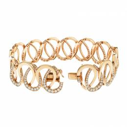 Montblanc Princesse Grace de Monaco Petal Intertwined Diamond 18k Rose Gold Bracelet 175810