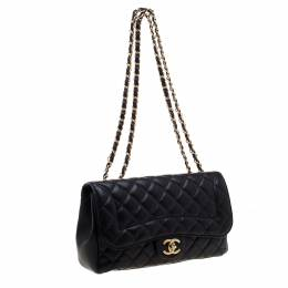 Chanel Navy Blue Quilted Leather Mademoiselle Chic Flap Shoulder Bag 193515