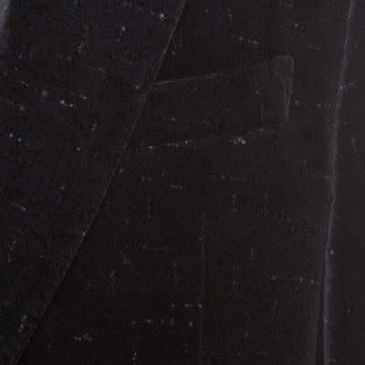 Salvatore Ferragamo Charcoal Grey Printed Velvet Blazer XL 186178 - 3