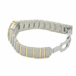 Omega White Mop Yellow Gold & Steel Constellation Diamond Women's Watch 24MM 210906