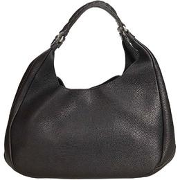 Bottega Veneta Black Leather Hobo Bag 161496