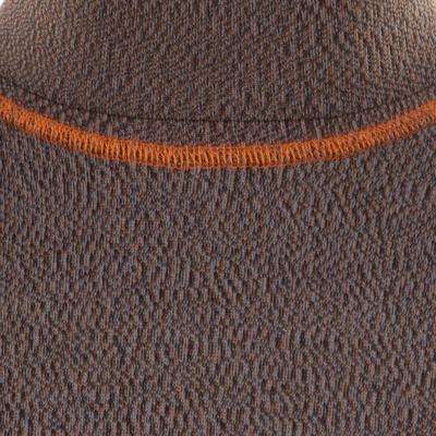 Prada Brown and Grey Contrast Top Stitch Detail Turtleneck Sweater L 185883 - 3