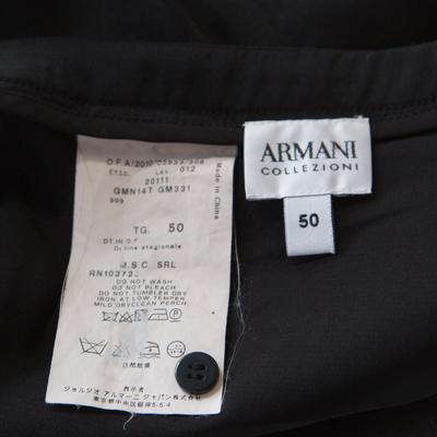 Armani Collezioni Black Silk Ruffle Detail Skirt XL 185691 - 5