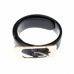 Gucci Black Leather Belt 90CM 209026