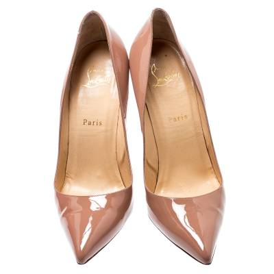 Christian Louboutin Beige Patent Leather So Kate Pumps Size 39.5 188516 - 2