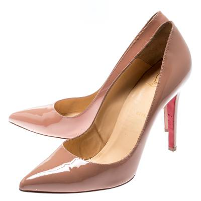 Christian Louboutin Beige Patent Leather So Kate Pumps Size 39.5 188516 - 3