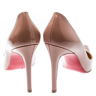 Christian Louboutin Beige Patent Leather So Kate Pumps Size 39.5 188516 - 4