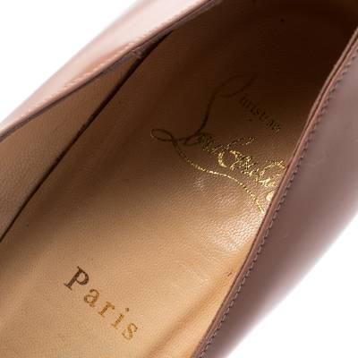 Christian Louboutin Beige Patent Leather So Kate Pumps Size 39.5 188516 - 6