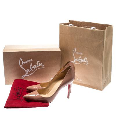 Christian Louboutin Beige Patent Leather So Kate Pumps Size 39.5 188516 - 7