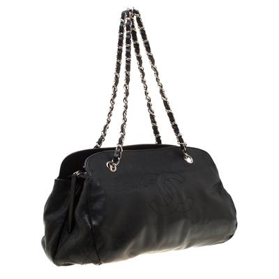 Chanel Black Caviar Leather CC Chain Shoulder Bag 187268 - 2