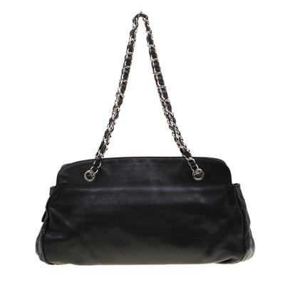 Chanel Black Caviar Leather CC Chain Shoulder Bag 187268 - 3