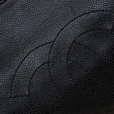 Chanel Black Caviar Leather CC Chain Shoulder Bag 187268 - 4