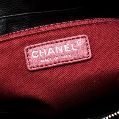 Chanel Black Caviar Leather CC Chain Shoulder Bag 187268 - 8