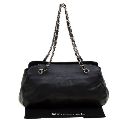 Chanel Black Caviar Leather CC Chain Shoulder Bag 187268 - 9
