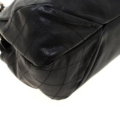 Chanel Black Caviar Leather CC Chain Shoulder Bag 187268 - 10