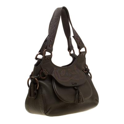 Mulberry Deep Green Leather Shoulder Bag 187024 - 2
