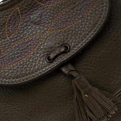 Mulberry Deep Green Leather Shoulder Bag 187024 - 4