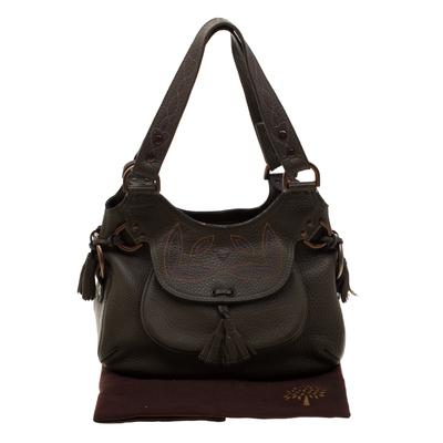 Mulberry Deep Green Leather Shoulder Bag 187024 - 8