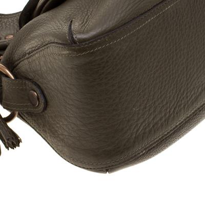 Mulberry Deep Green Leather Shoulder Bag 187024 - 10