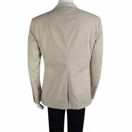 Salvatore Ferragamo Beige Cotton Regular Fit Giacca Blazer L 89627