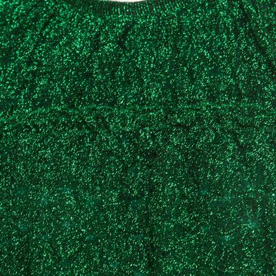 Missoni Metallic Green Knit Neck Tie Detail Tiered Maxi Dress and Fringed Wrap Set M 186723 - 5