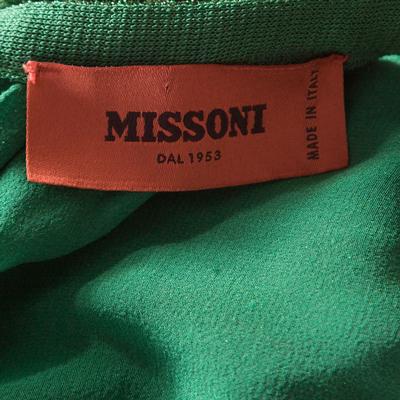 Missoni Metallic Green Knit Neck Tie Detail Tiered Maxi Dress and Fringed Wrap Set M 186723 - 6