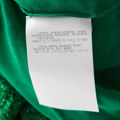 Missoni Metallic Green Knit Neck Tie Detail Tiered Maxi Dress and Fringed Wrap Set M 186723 - 7