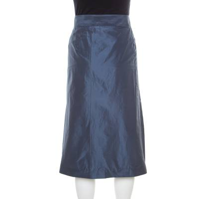 Jil Sander Grey Asymmetric Waist Detail Wrap Skirt L 185717 - 2