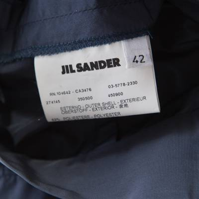 Jil Sander Grey Asymmetric Waist Detail Wrap Skirt L 185717 - 5