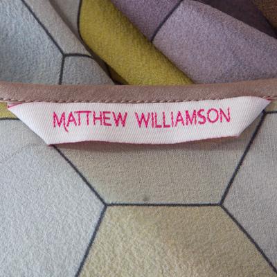 Matthew Williamson Multicolor Honeycomb Printed Silk Wrap Kimono Tunic S 186512 - 4