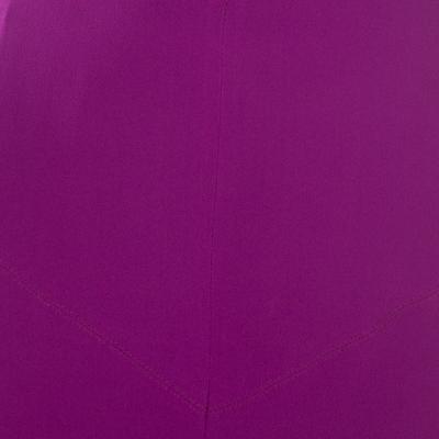 Gianfranco Ferre Purple Crepe Maxi Skirt L 186339 - 3