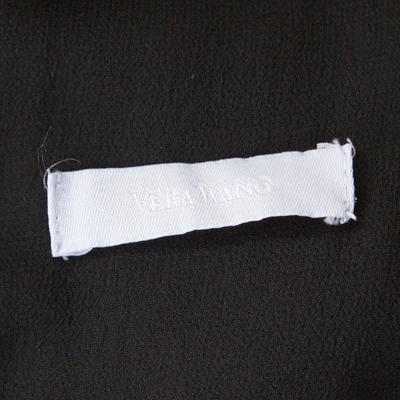 Vera Wang Black Embellished Satin Bod Detail Sleeveless Dress M 186493 - 4