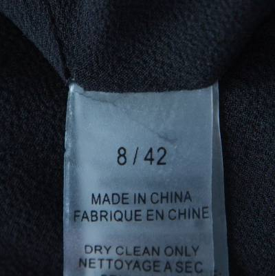 Vera Wang Black Embellished Satin Bod Detail Sleeveless Dress M 186493 - 5