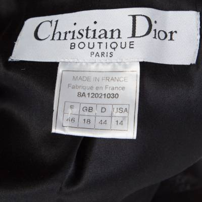 Dior Boutique Black Wool Ruffled Lace Collar and Cuff Detail Jacket XL 186487 - 4