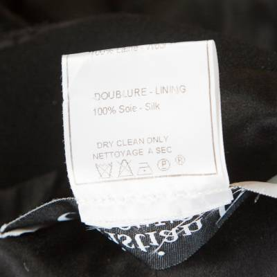 Dior Boutique Black Wool Ruffled Lace Collar and Cuff Detail Jacket XL 186487 - 5