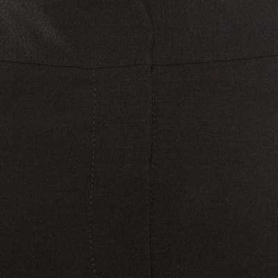 Diane Von Furstenberg Black Contrast Leather Panel Detail Lisa Pencil Skirt S 186963 - 4