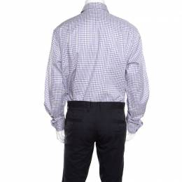 Ralph Lauren Purple Checked Cotton Button Front Shirt 3XL 159524