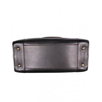 Loewe Dark Brown Leather/Lizard Amazona 36 Satchel Bag 109896 - 3
