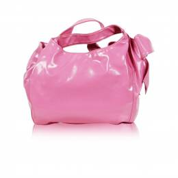 Valentino Pink Leather Bow Detail Slouchy Tote Bag 188099