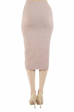 Jonathan Simkhai Blush Pink Textured Intarsia Knit Midi Pencil Skirt XS 212607