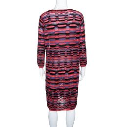 M Missoni Multicolor Patterned Knit Long Sleeve Tunic L 143584