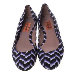 Missoni Multicolor Knit Fabric Ballet Flats Size 37 212506