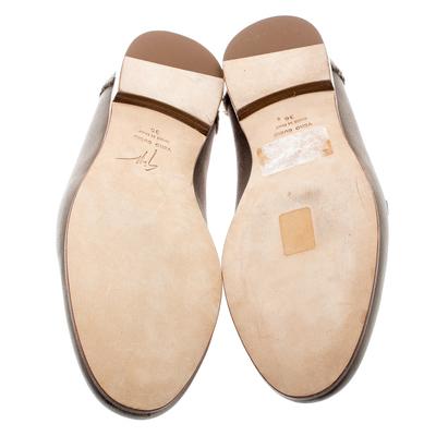 Giuseppe Zanotti Design Beige Satin Letizia Crystal Embellished Loafers Size 36 187161 - 5