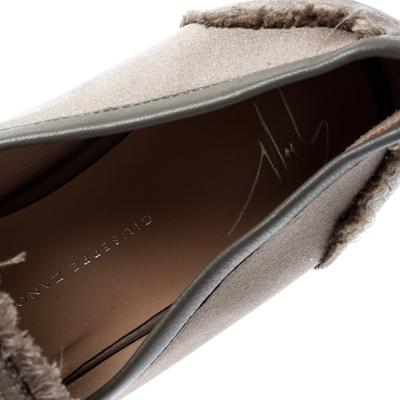 Giuseppe Zanotti Design Beige Satin Letizia Crystal Embellished Loafers Size 36 187161 - 6
