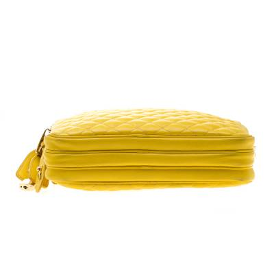 Dolce & Gabbana Yellow Quilted Leather Crossbody Bag 186796 - 5