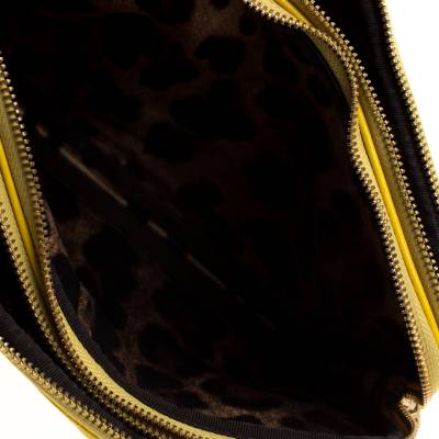 Dolce & Gabbana Yellow Quilted Leather Crossbody Bag 186796 - 6