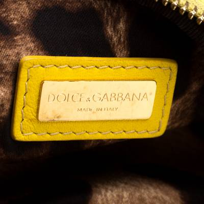 Dolce & Gabbana Yellow Quilted Leather Crossbody Bag 186796 - 7