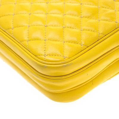 Dolce & Gabbana Yellow Quilted Leather Crossbody Bag 186796 - 9