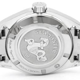 Omega Black Stainless Steel Seamaster Aqua Terra Women's Wristwatch 30MM 159547