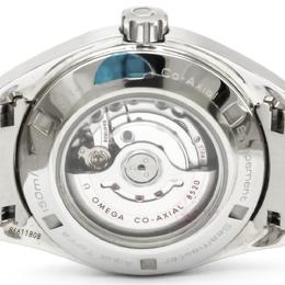 Omega Black Stainless Steel Seamaster Aqua Terra Women's Wristwatch 34MM 165411